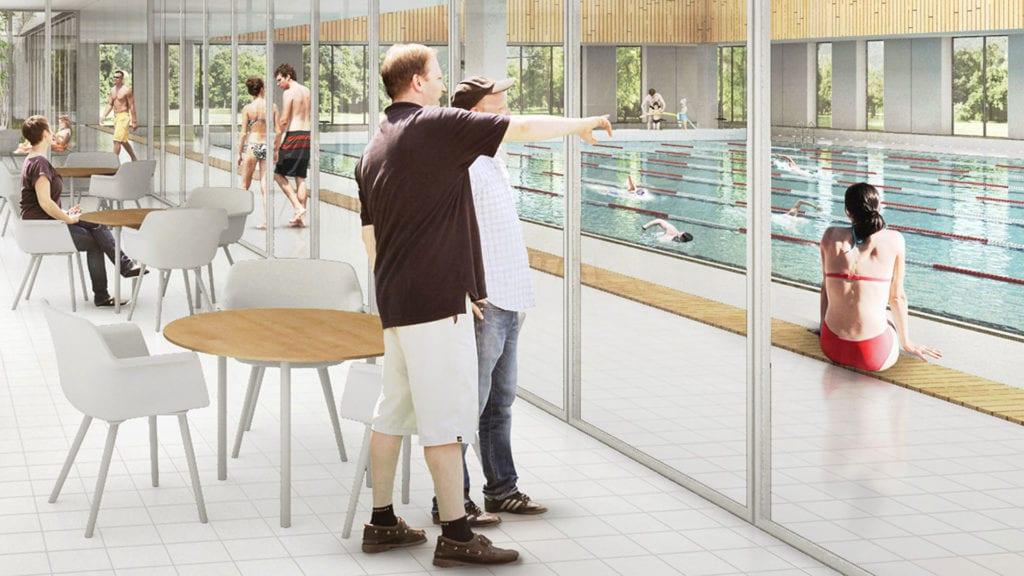 Illustration: GPP Arkitekter, afspejler ikke nødvendigvis Ry Svømmehal projektet